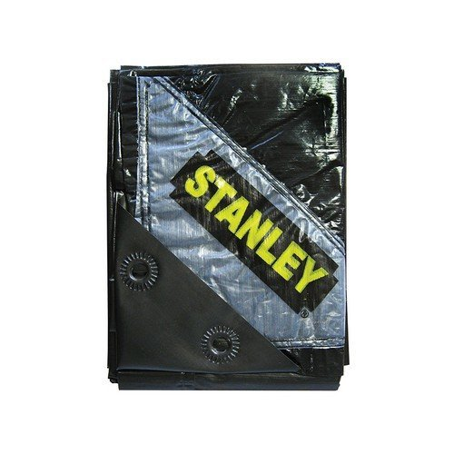 Stanley STAPTBK1 Premier Black Tarpaulin 1.9 x 2.9m (6 x 9ft)