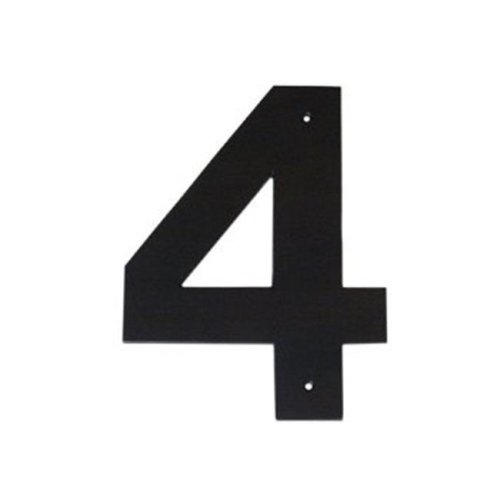 Montague Metal Products HHN-4-24 24 In  Helvetica Modern Font Individual  House Number 4