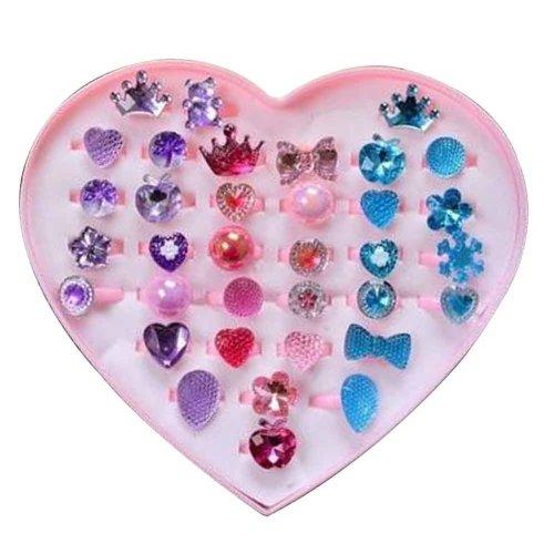 Shiny Plastic Girls Toys Rings, Princess Dress Up [D]