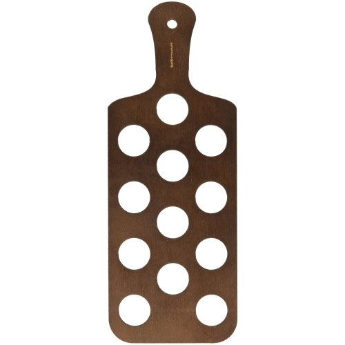 Pine Shot Paddle Board to Hold 12 Shot Glasses - Wooden Shot Flights for Serving Drinks