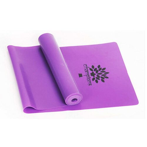 High-grade Durable Colorful Yoga Strap Exercise Band Fitness Equipment,PURPLE