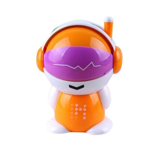 Creative Cute Students Manual Pencil Sharpener Chainsaw Crayon Sharpener(Orange)