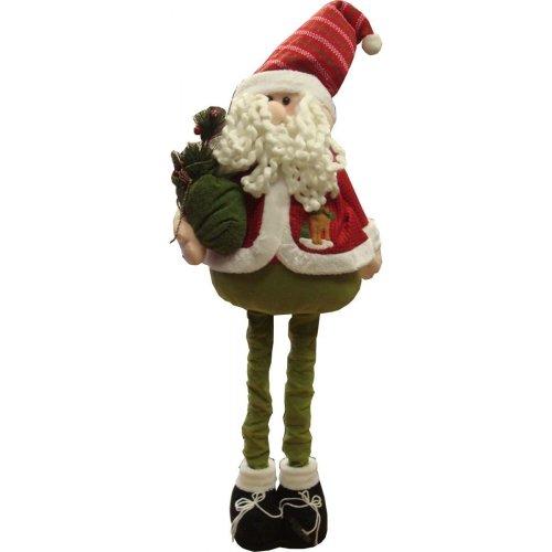 100 cm Extendable Leg Santa Decoration?(Tel35)