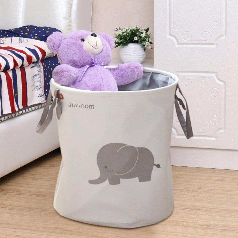 Polyester Storage Baskets Junnom Collapsible Convenient Laundry Bin Basket Hamper