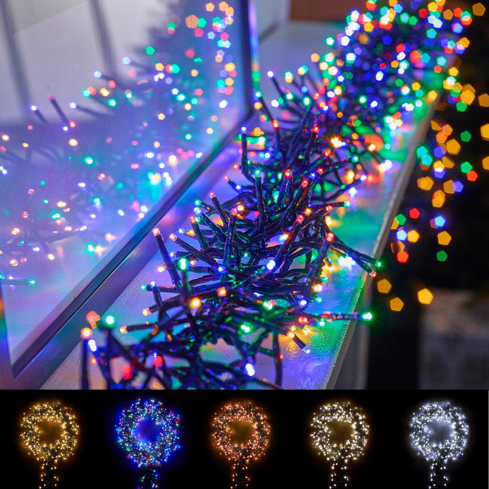 winter workshop led cluster christmas lights multi functional timer in outdoor on onbuy. Black Bedroom Furniture Sets. Home Design Ideas