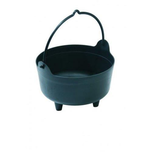 Black Small Cauldron Indoor Outdoor Plant Arrangements Gardening