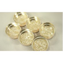 Crystal Clear Stamps Embossing Stamps Round Greeting Stamps 5 Packs