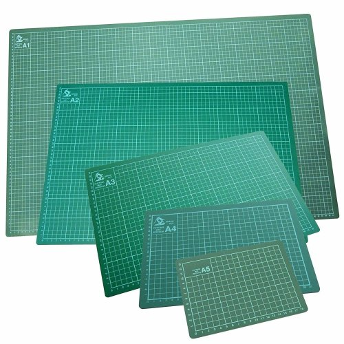 GLOW Professional Cutting Mat – Premium Quality High Density Flexible Non Slip Hobby Arts and Crafts Surface with Accurate Squared Metric Guide Grid Lines Design for Cutting Paper, Card and Other Materials, Protects Home Table Desk Furniture from Cut
