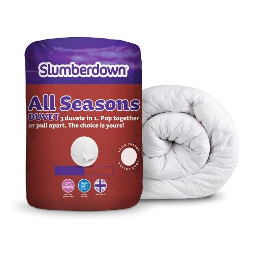 Slumberdown All Seasons 3-in-1 15 Tog Combi Duvet, White, Single Bed