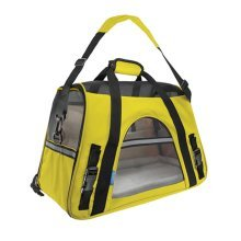 Pet Carrier Soft Sided Travel Bag for Small dogs & cats- Airline Approved, Yellow