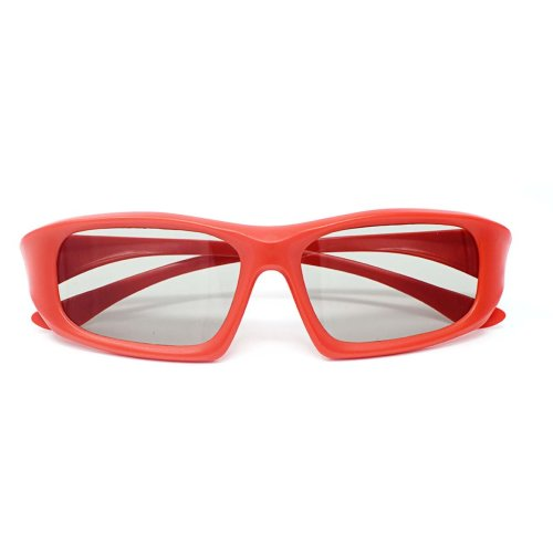 Ultra 1 to 5 Pairs of Red Adults Passive 3D Glasses For Men Women Polorized Eyewear Wraparound Style for All Passive TVs Cinema and Projectors Such as RealdD Toshiba LG Sony Panasonic and More