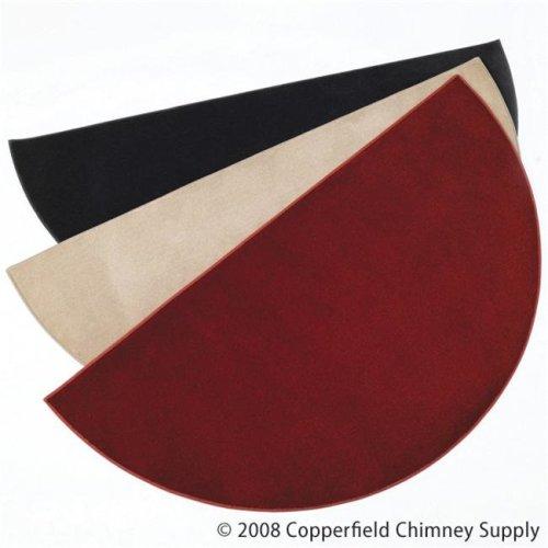 Chimney 47155 Half Round Hearth Rug - Wine - 27 Inches x 48 Inches