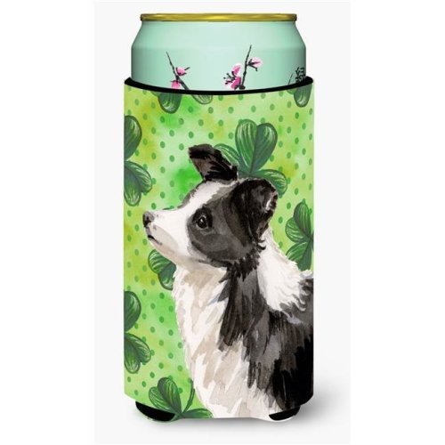 Carolines Treasures BB9548TBC Border Collie St Patricks Tall Boy Beverage Insulator Hugger