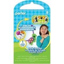 Prl52947 - Perler Beads - Snap Ins Activity Kit - Turtle Bracelet