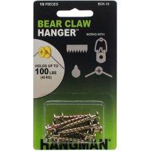 """Double Headed Bearclaw Hanger 1"""" 10/Pkg-Gold"""