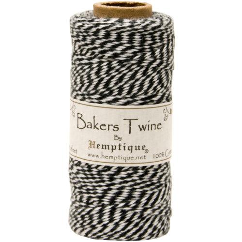 Cotton Baker's Twine Spool 2-Ply 410'-Black
