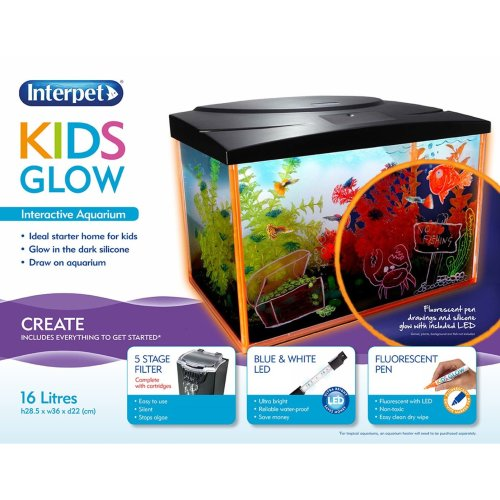 Interpet Kids Glow Aquarium 16 Litres 36x22x28.5cm