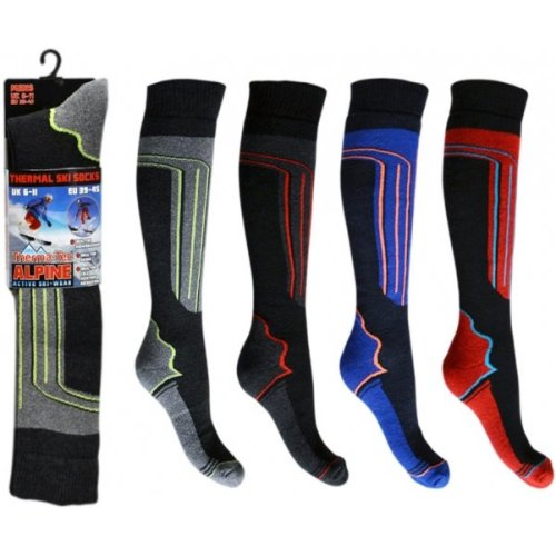 MEN'S THERMAL SKI SOCKS SIZE 6-11 PACK OF 4 PAIRS