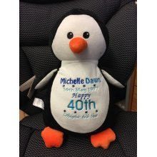 Cute Penquin - Personalised With Message, Name or Birth Date