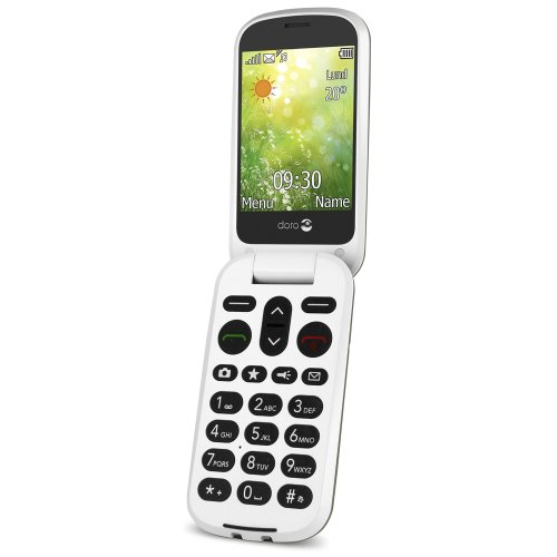 Doro 6050 Easy To Use 2G UK SIM-Free Mobile Phone - Champagne/White
