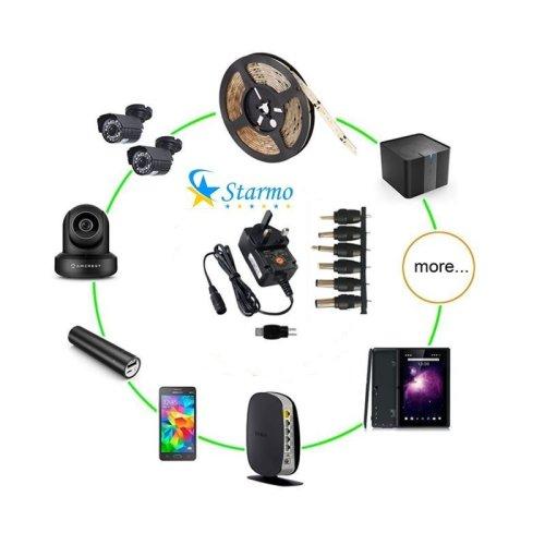 Starmo Universal UK Mains Power Supply 3V - 12V AC/DC 1500mAh Adapter