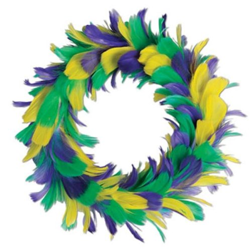 Beistle 57902-GGP Feather Wreath - Pack of 6