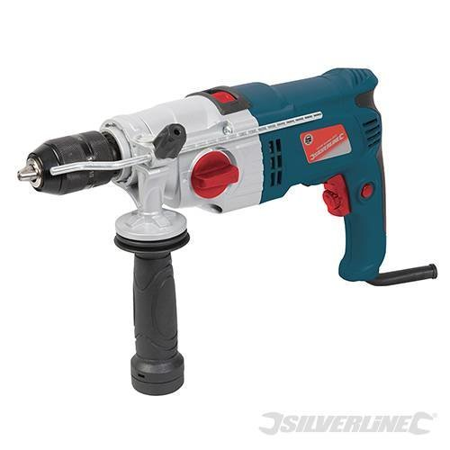 Silverline Silverstorm 1050w Hammer Drill 1050w - 1010w 129901 -  1010w drill hammer silverline silverstorm 129901 1050w