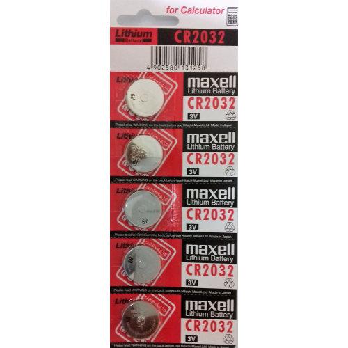 Maxell 5x Genuine Cr2032  Lithium Cells Batteries