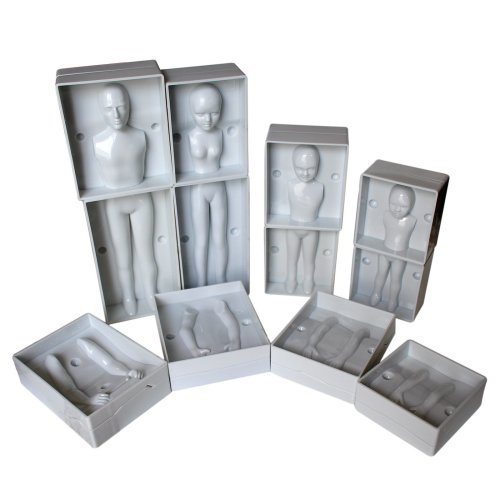 Human Moulds by Kurtzy - 24 Pc Plastic Fondant Moulds,Full Family Set ncluding 4 Sizes - Man, Women & 2 Children - Full Instructions Included -...