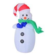 Homcom Inflatable Christmas 120cm Snowman w/ LED Lights and Inflator