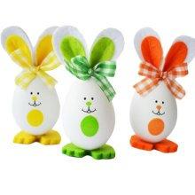 Three Plastic Easter Eggs/Children Rabbit Eggs/Gift/Decorations-2