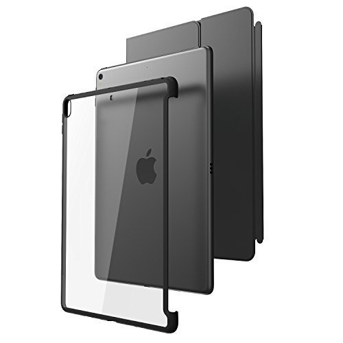 All New iPad Pro 10.5 Case, i-Blason [Compatible with Official Smart Cover and Smart Keyboard] Clear Hybrid Cover Case [Updated Version] for Apple...