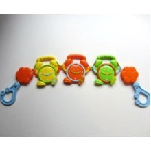 Pram Rattle Assorted Designs -  pram rattle baby toy first steps 4 designs buggy fun pushchair kids