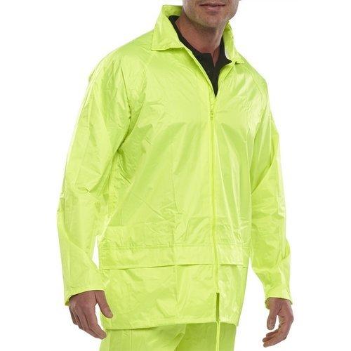 Click NBDJSYL Nylon Waterproof Jacket With Hood Satin Yellow Large