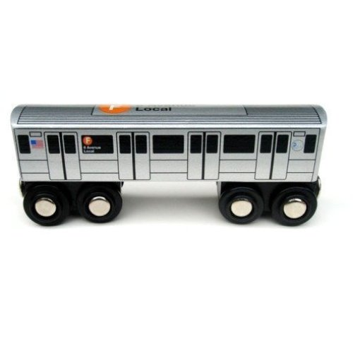 Munipals NYC Subway F Car Toy Train Wooden Railway Compatible