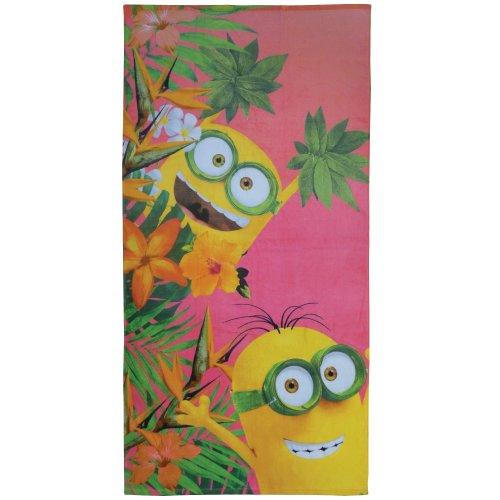 CTI Minions Flowers Cotton Coral Bath Towel 150x 75cm
