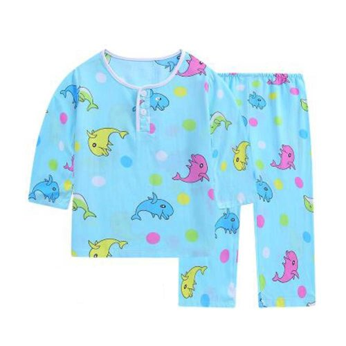 Dolphin Little Boys Cotton Short Pajamas Summer Kids Clothes Toddler