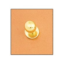 Extra Small Gold Screwback Button Stud -  extra small gold screwback button stud 7mm gilt fastener leathercraft accent