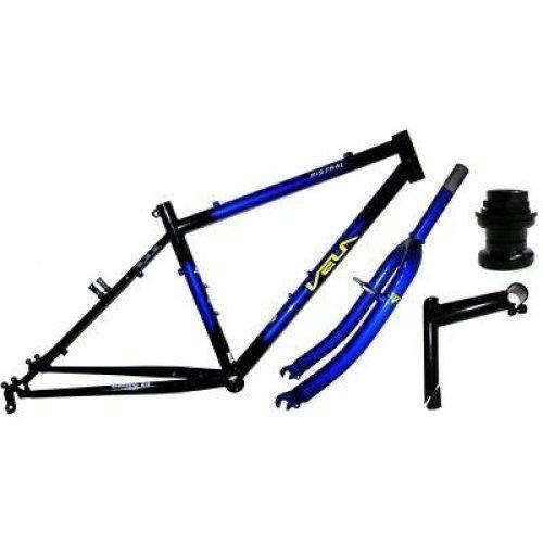 """VELA MISTRAL18"""" Bike Bicycle FRAME AND FORKS HEADSET STEM for 26"""" WHEELS"""