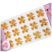 Set of 2 Crystal Yellow Butterfly Beads Stickers 3D DIY Stickers for Kids