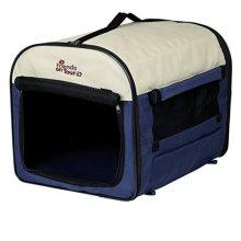 Trixie 39704 Pet Carrier 4 55 65 80cm Dark Blue / Beige - 80cm -  trixie dark blue beige 39704 pet carrier 55 65 80 cm