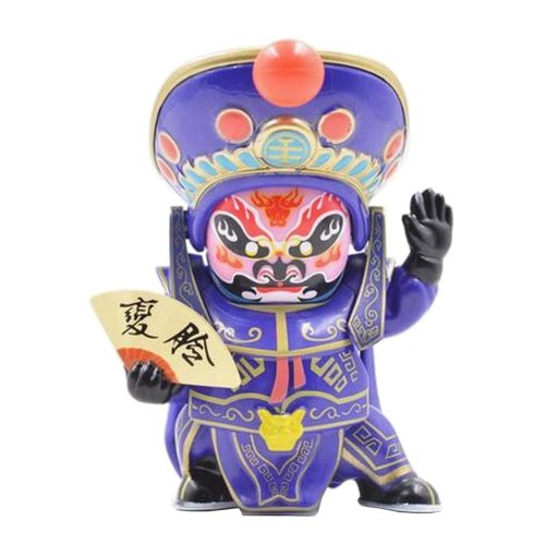 Traditional Chinese Opera Face Changing Doll Sichuan Opera Figure Toy, Purple