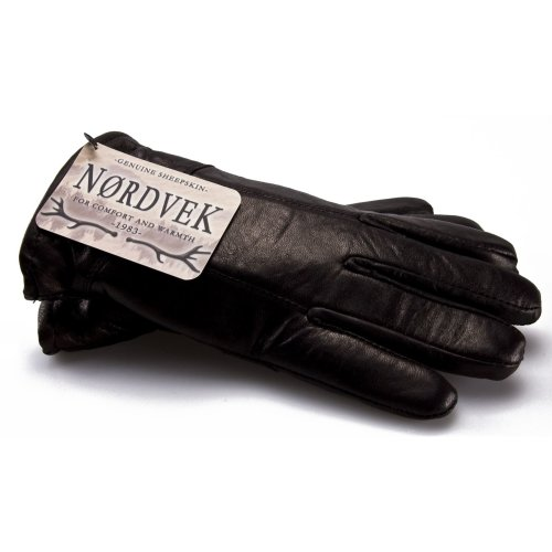 Nordvek Leather Gloves Man - Sheepskin Lining # 302-100…