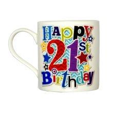 Simon Elvin 21st Male Milestone Age Mug - Male Birthday Official Product Cup -  male 21st birthday mug official product simon elvin milestone age cup