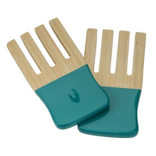 Kyoto Spun Bamboo Salad Forks - Turquoise