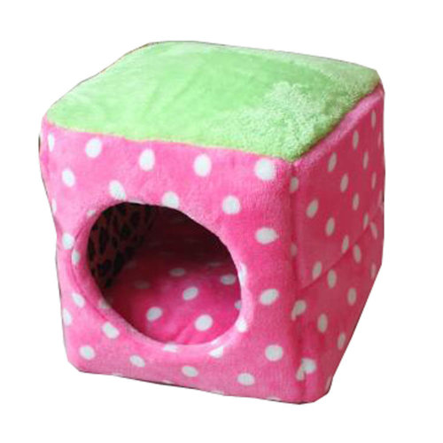 Four Seasons Universal Small-scale Pet House Cat Cave Cat Mat [Pink] [H]