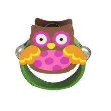 Animal Tambourine Owl Mini Tambourine Wood Hand Drum for Kids