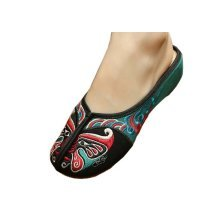 Womens Embroidered Summer Slippers Wedges Sandals Shoes for Cheongsam, #03