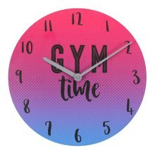 Ombre Gym Time Wall Clock