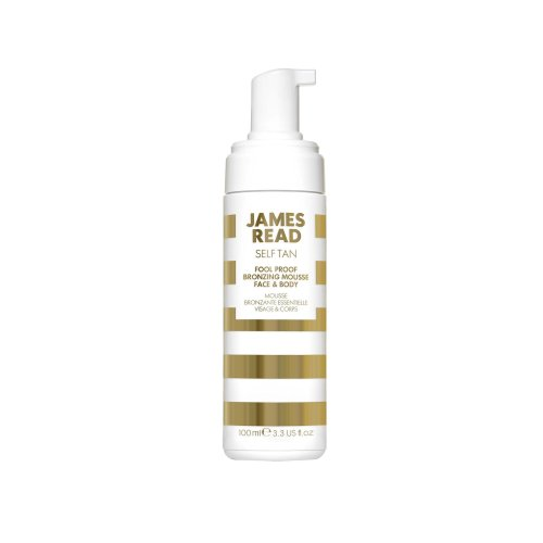 JAMES READ Fool Proof Bronzing Mousse for Face & Body 200ml Instant Self Tan LIGHT/MEDIUM Tinted Fast Drying Formula Perfect for First Time Tanners...